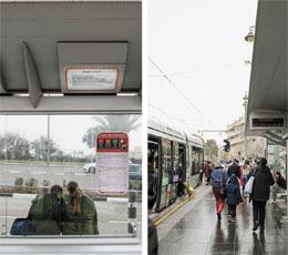 פרויקט 'שירכבת' בתחנות הרכבת בעיר (צילומים: נועם מושקוביץ)