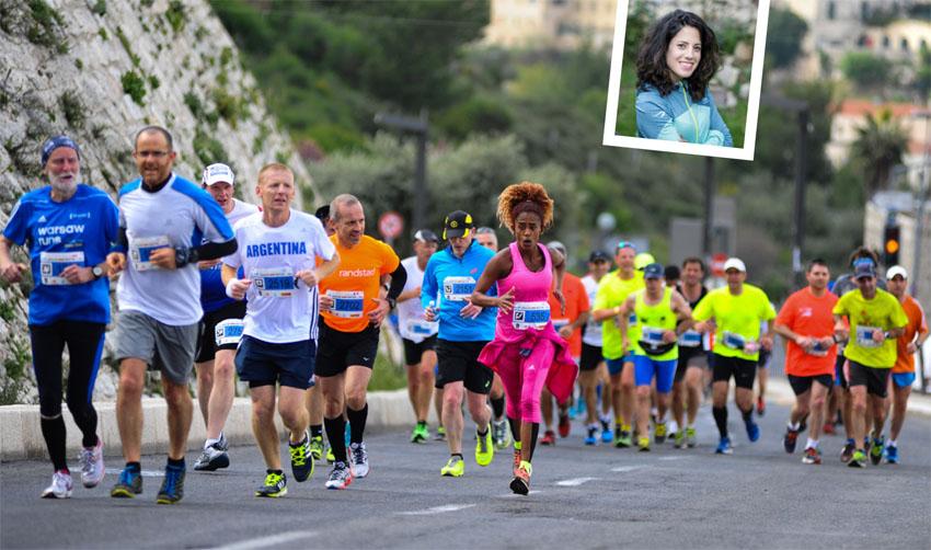 מרתון ירושלים, רותי זינדל אוכמן (צילומים: פלאש 90, פרטי)