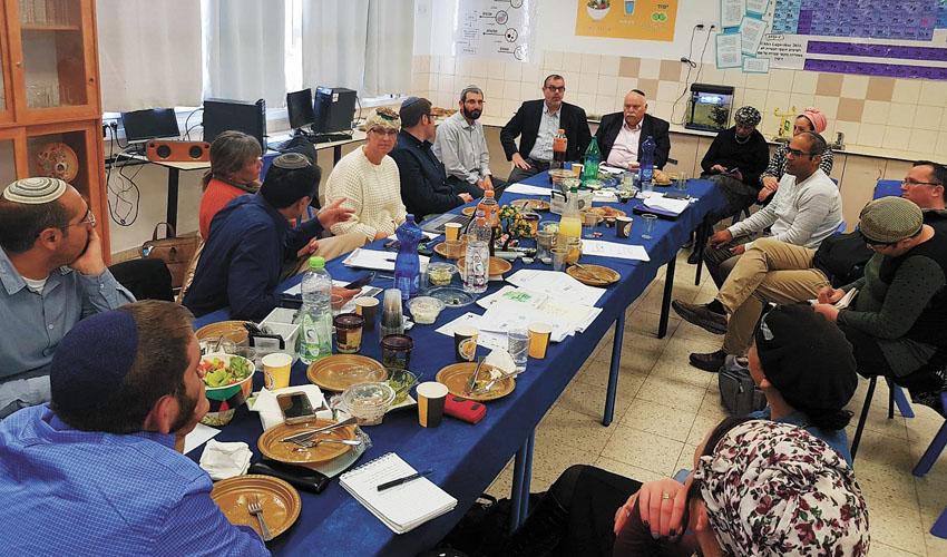 ביקור ראשי התלמוד הישראלי במעלה אדומים (צילום: עיריית מעלה אדומים)