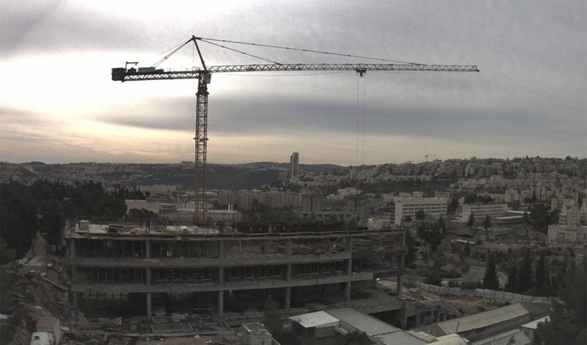 מתוך הסרטון - הקמת הבניין למדעי המוח באוניברסיטה העברית (צילום: מרכז אדמונד ולילי ספרא למדעי המוח)