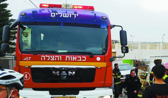כבאית - כבאות והצלה מחוז ירושלים (צילום: אריק אבולוף, כבאות והצלה ירושלים)