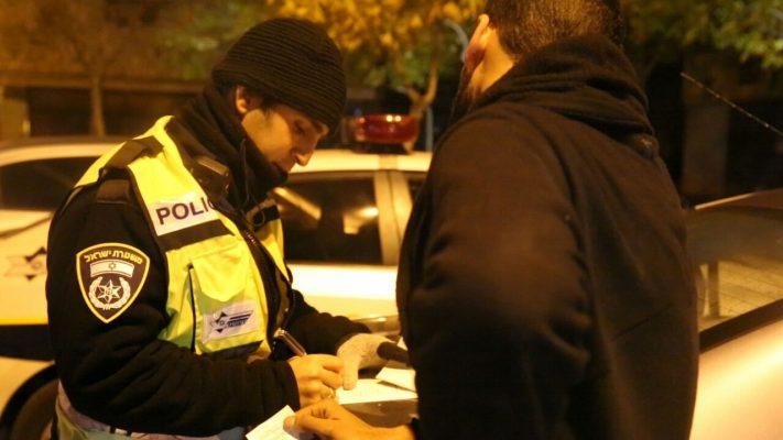 בדיקת אלכוהול (צילום: דוברות המשטרה)