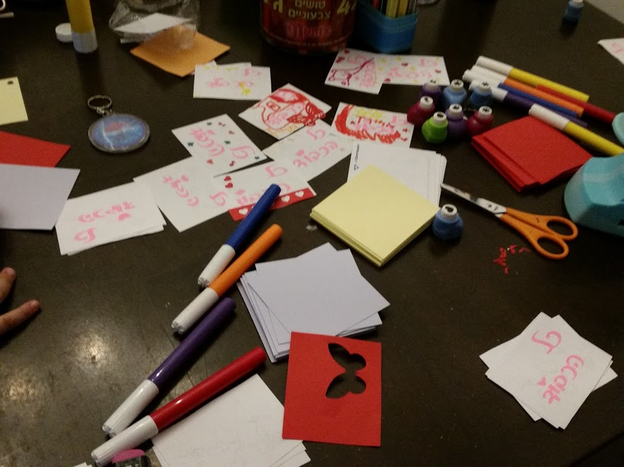 מכינים כרטיסי תודה מושקעים