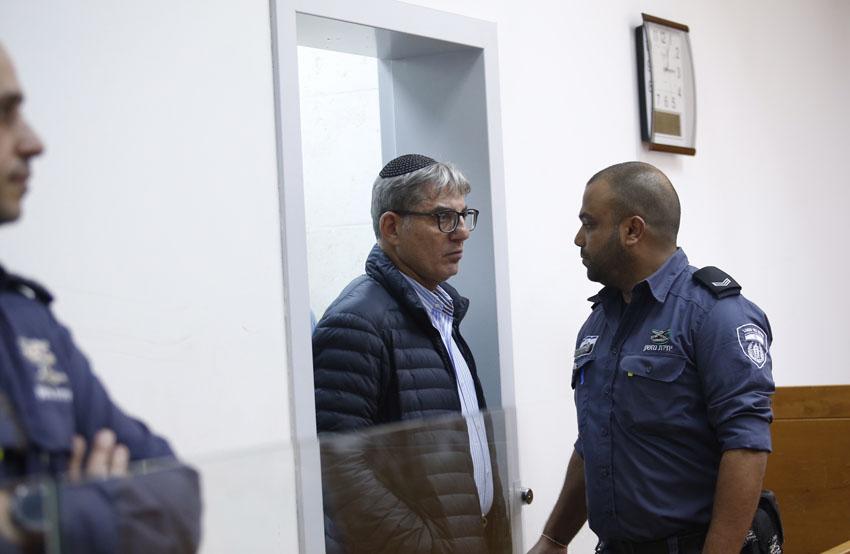 מאיר תורג'מן בהארכת המעצר, היום בבית המשפט (צילום: מגד גוזני)