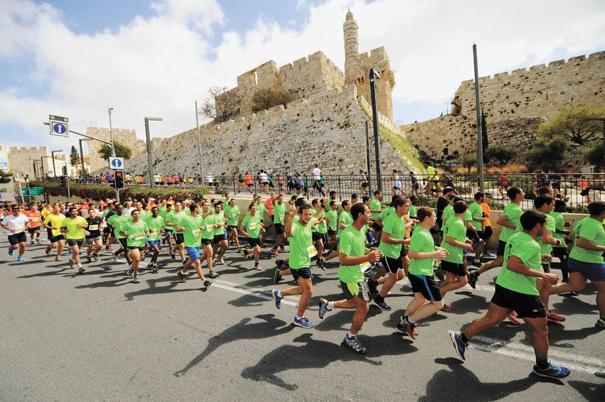 מרתון ירושלים אשתקד (צילום: פלאש 90)