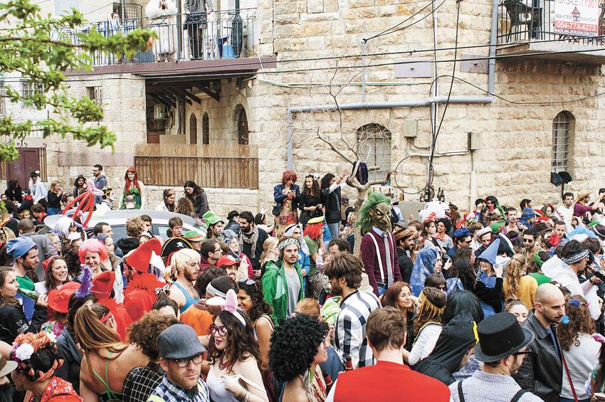 חגיגות פורים בירושלים (צילום: נעה קסטל)