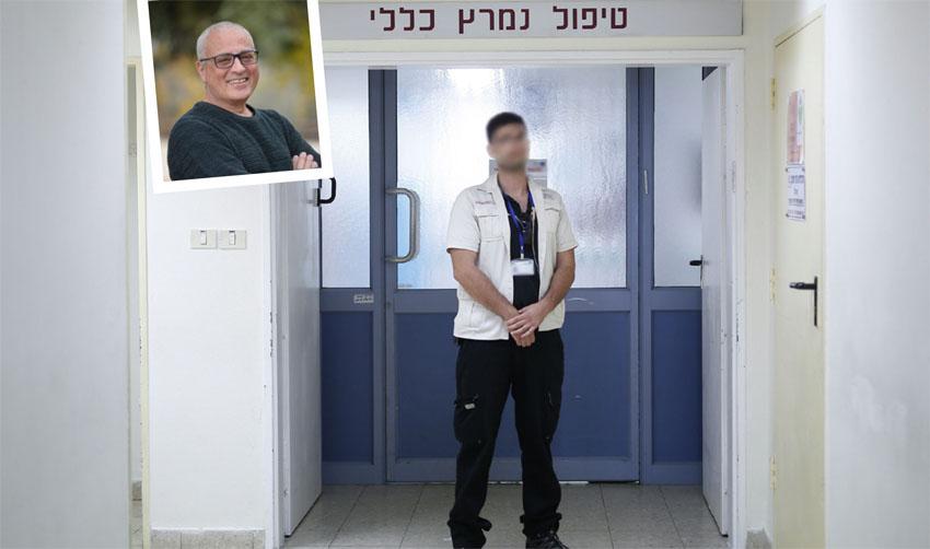 מאבטח בית חולים, מנשה שרביט (צילומים: אילוסטרציה אילן אסייג, יאיר כהן)