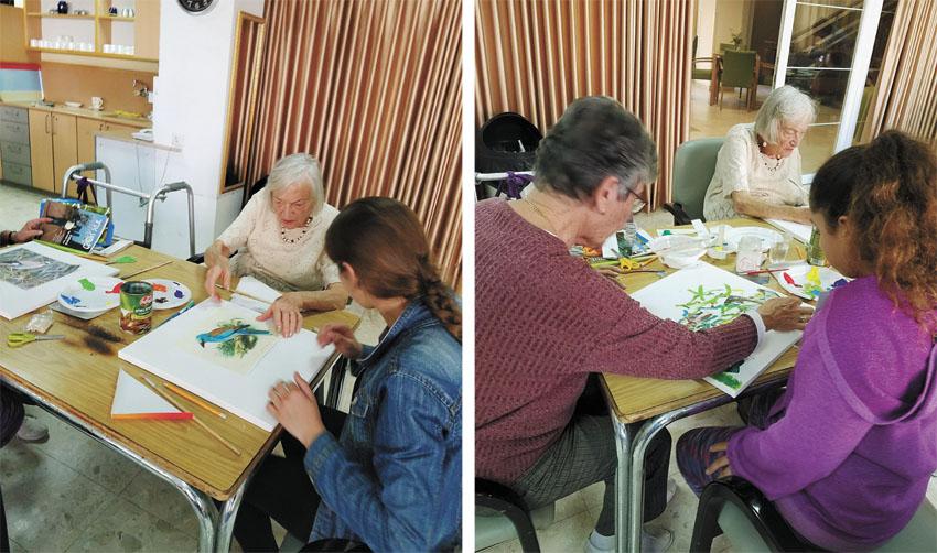 מפגש היצירה הבין דורי בבית מוזס, השבוע (צילומים: באדיבות בית הספר יפה נוף)