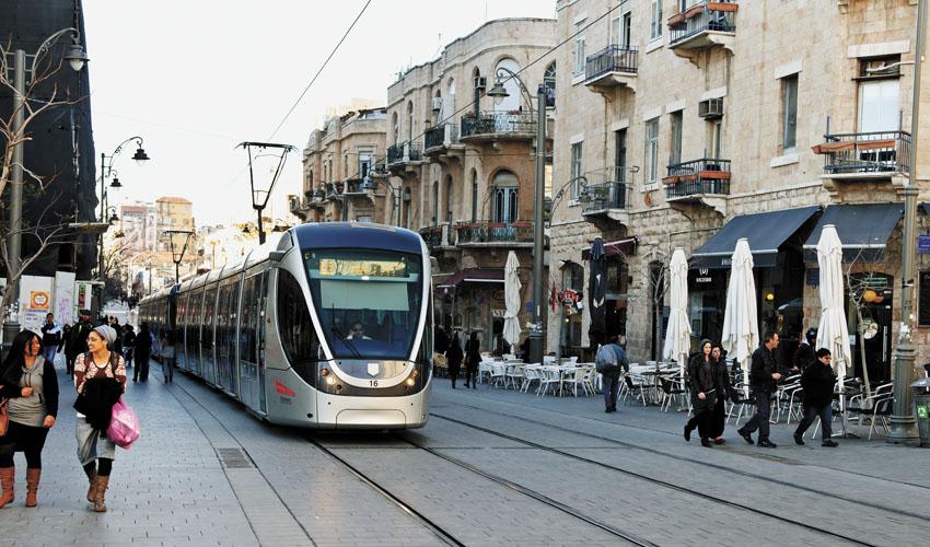 הרכבת הקלה בירושלים (צילום: גור דותן)