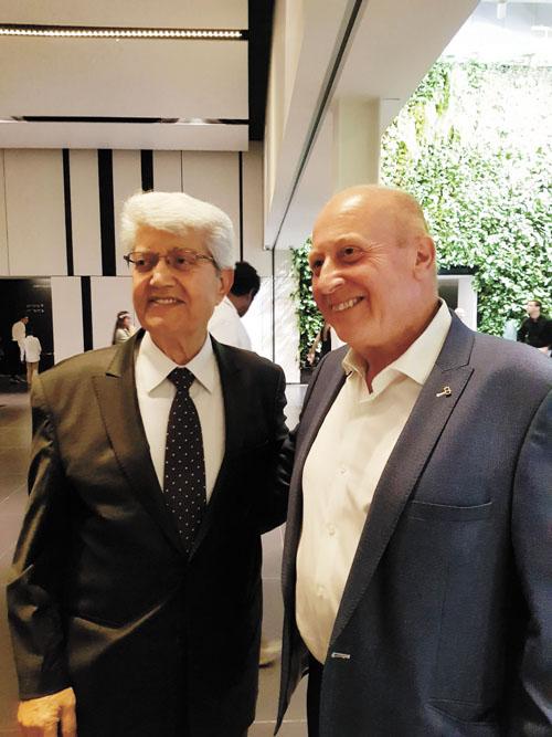 """רמי גזית ודוד לוי (צילום: יח""""צ)"""