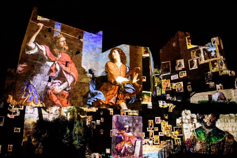 חווית הלילה החדשה במוזיאון מגדל דוד (צילום: נפתלי הילגר)