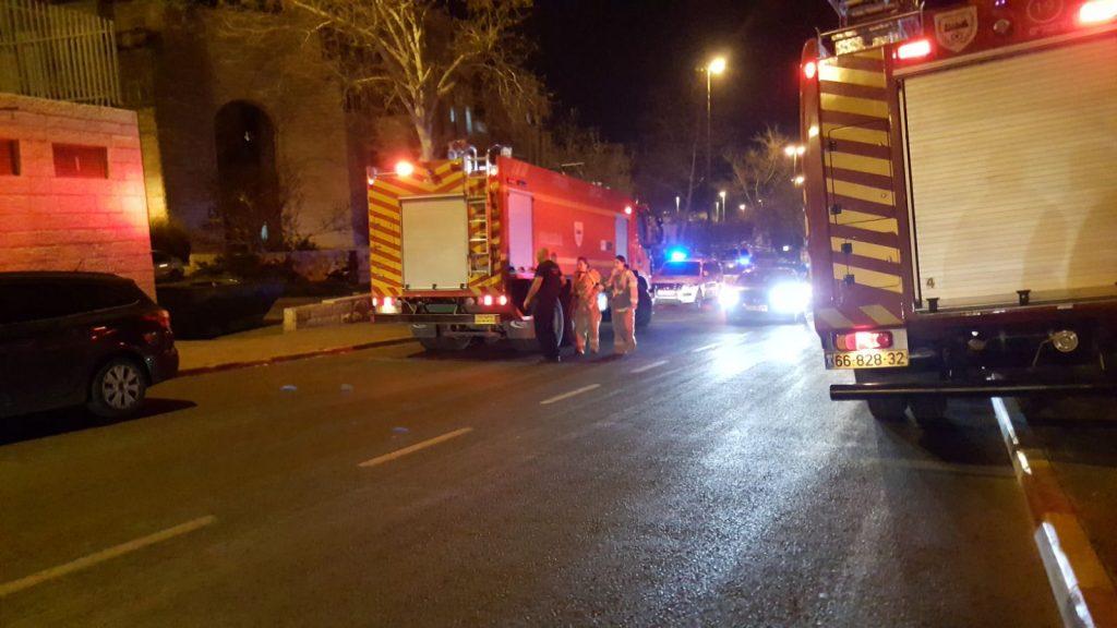 דליפת גז ברחוב המרגלית בגילה (צילום: דוברות כבאות והצלה ירושלים)