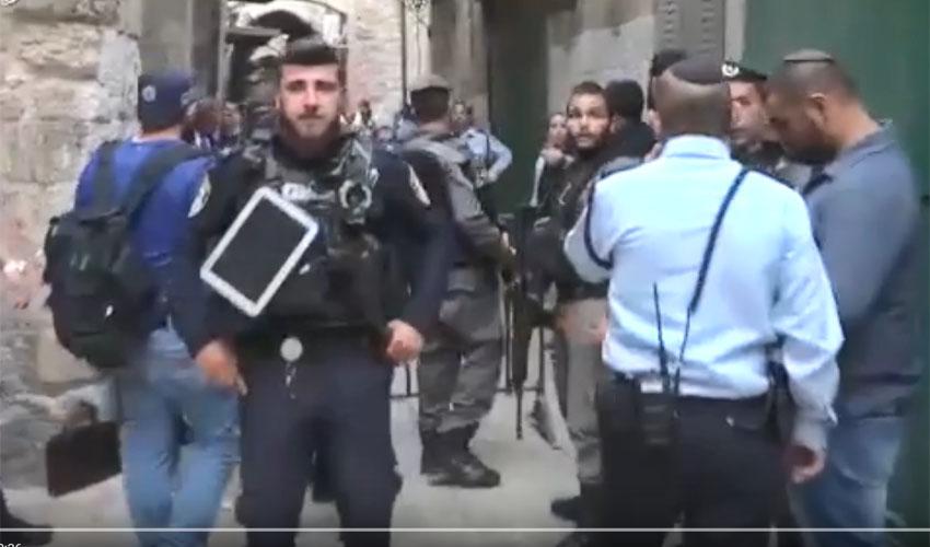 זירת הפיגוע בעיר העתיקה 18.3.18 (צילום: דוברות המשטרה)