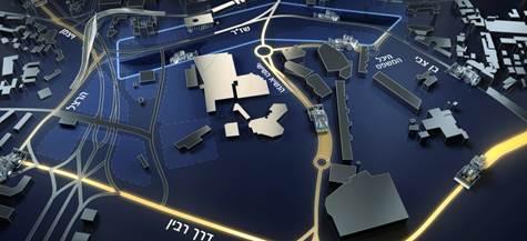 מפת החסימות בכניסה לעיר