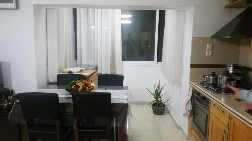 הדירה ברחוב אבשלום חביב, ארמון הנציב (צילום: אריק ניסני)