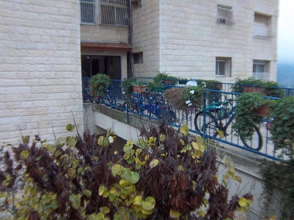 חזית הבניין של הדירה ברחוב שטרן, קרית היובל (צילום: אמה בונין ודודו כהן)