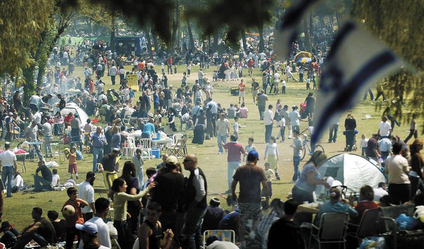 יום העצמאות בגן סאקר (צילום: תומר אפלבאום)