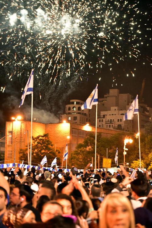חגיגות יום העצמאות במרכז העיר (צילום: יוני קלברמן)