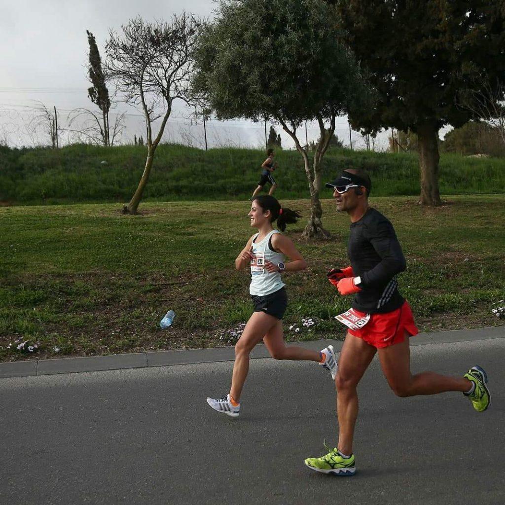 רותי זינדל-אוכמן, מרתון ירושלים 2018 (צילום: אלבום פרטי)