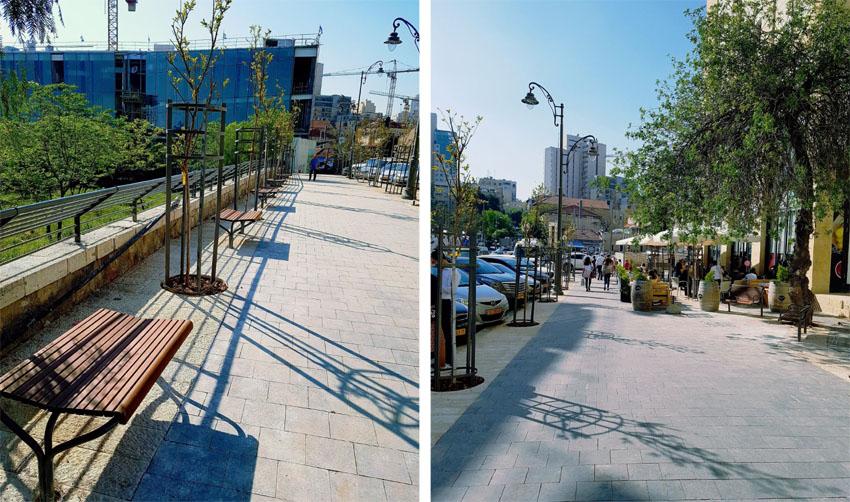 רחוב בן סירא המחודש (צילומים: ד''ר אופיר לנג)