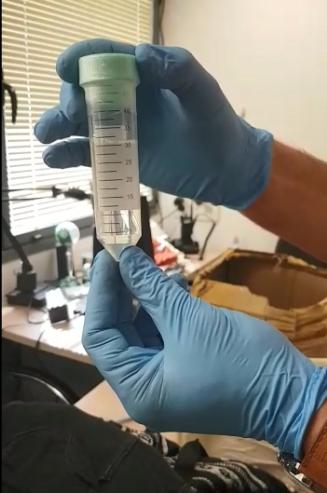נוזל סם הקטמין שנתפס (צילום: דוברות המשטרה)