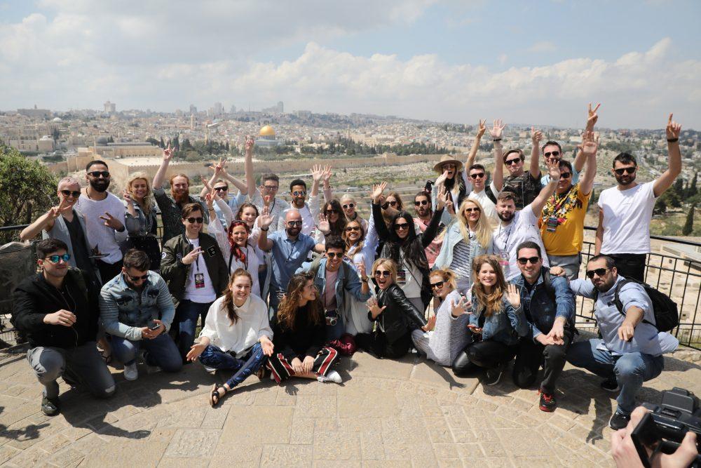 משתתפי אירוויזיון 2018 בסיור בירושלים (צילום: רפי דלויה)