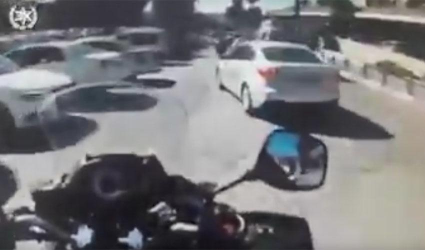 מתוך סרטון הליווי המשטרתי של האישה ההרה (צילום: דוברות המשטרה)