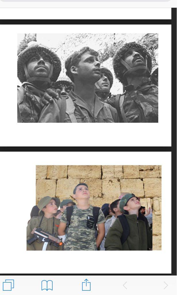 משחזרים את שלושת הצנחנים בכותל, מיד לאחר כיבוש ירושלים ב-1967