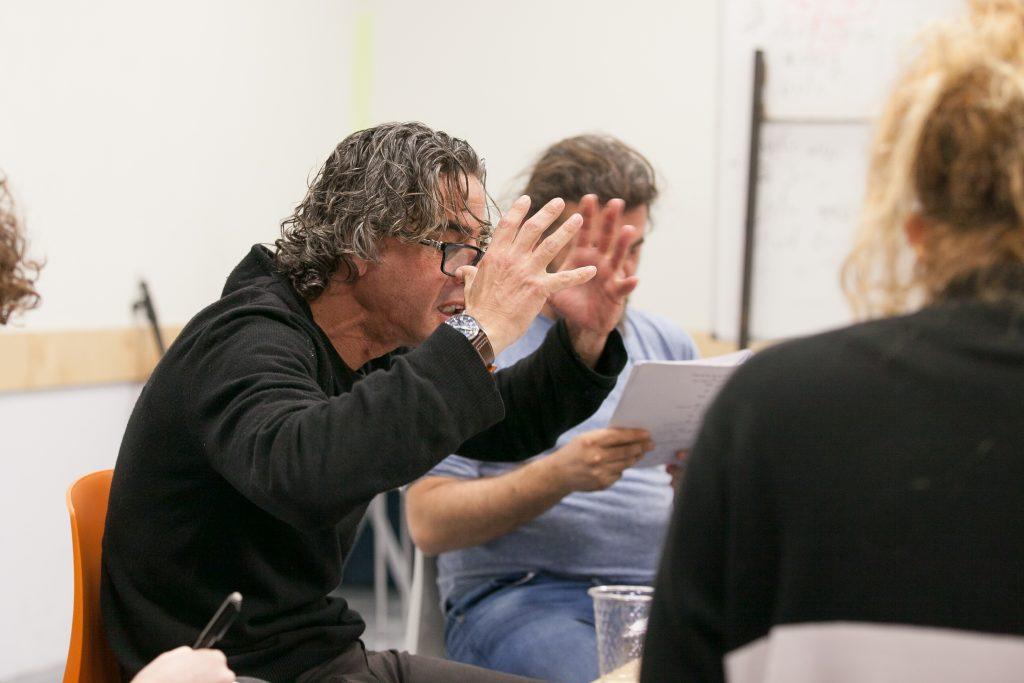 נירו לוי והבמאי יפים ריננברג (צילום: טל צבר)