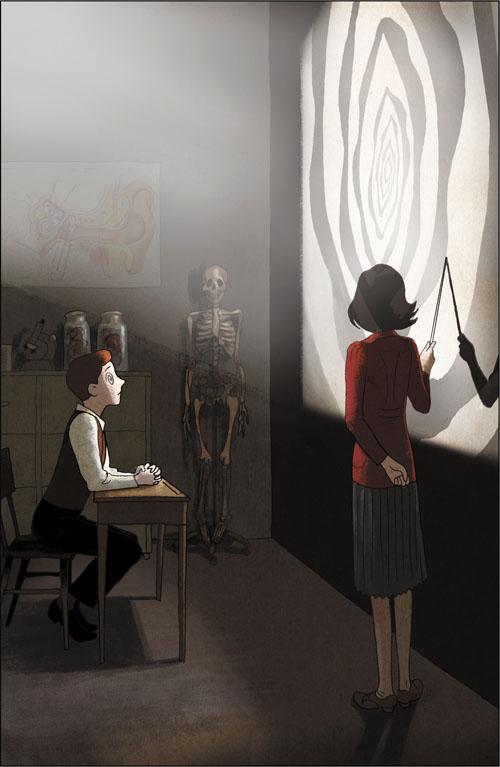 """מתוך התערוכה """"אנה פרנק - היומן הגרפי"""" (צילום: יח""""צ)"""