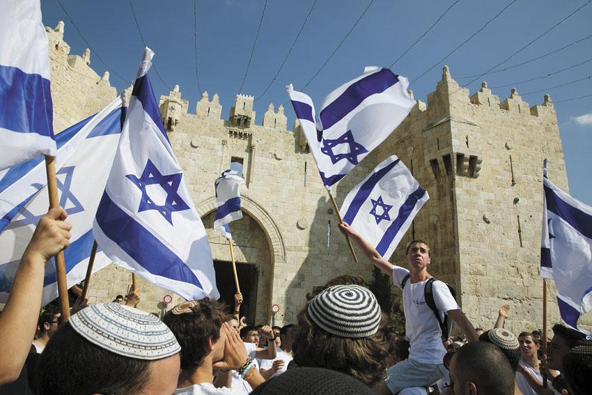 אירועי יום ירושלים בשנה שעברה (צילום: אוליבייה פיטוסי)
