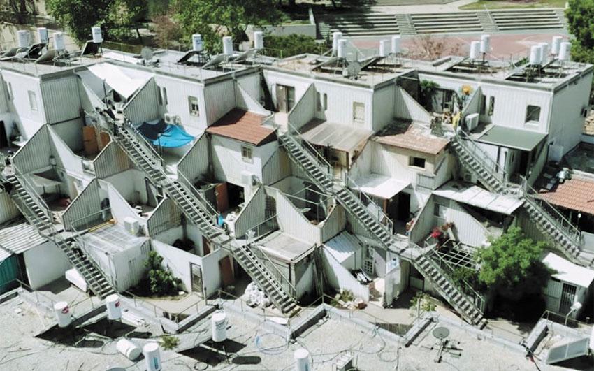 מתחם הדיור הציבורי בגילה (צילום: מטה הבחירות של אבי סלמן)