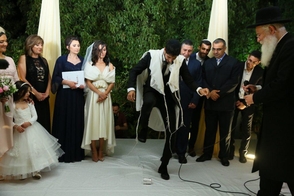 החתונה של עידן עמדי ומרים בנימינוב (צילום: ארנון בוסאני)