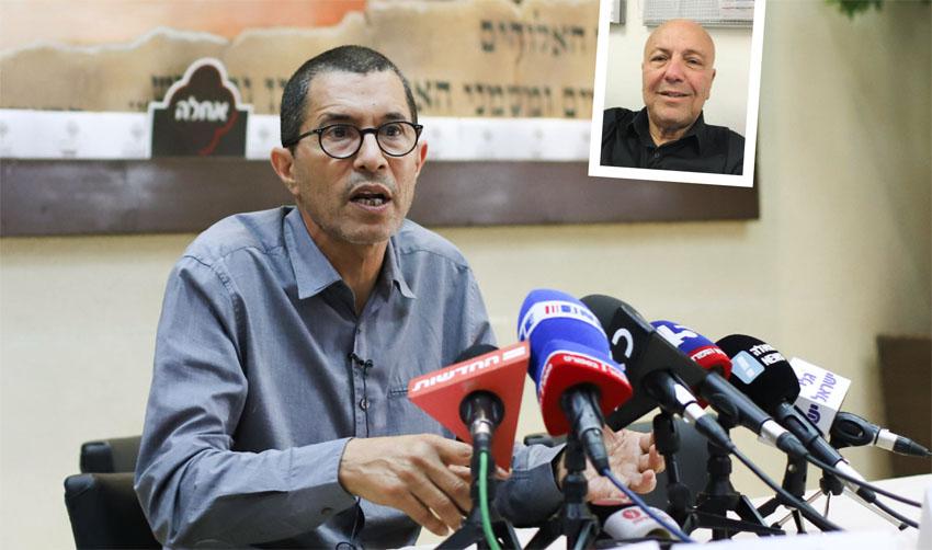 רמי מנדל, אלי טביב (צילום: אורן בן-חקון)