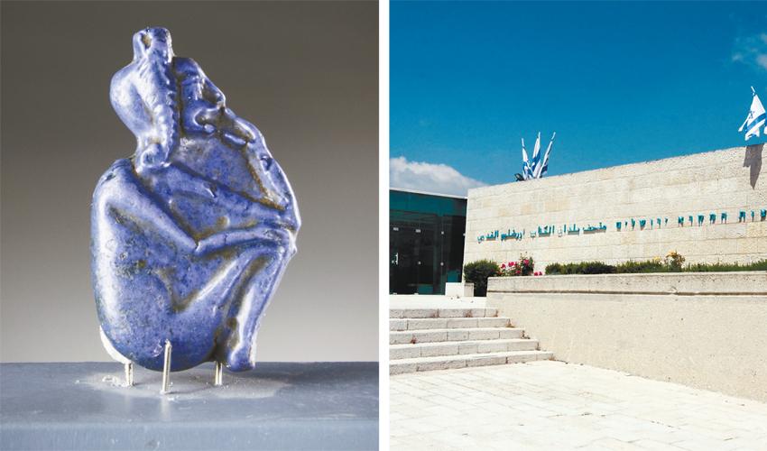 בתמונות (משמאל) פריט מתוך התערוכה, מוזיאון ארצות המקרא (צילומים: משה קן, מגד גוזני)