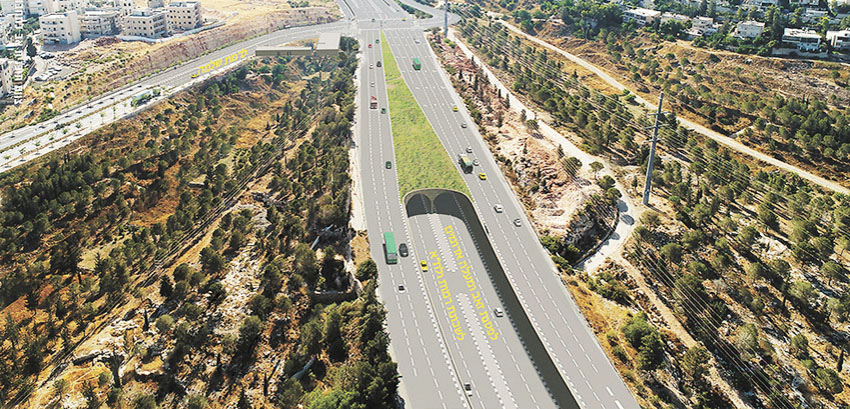 הדמיית מנהרת הגבעה הצרפתית (צילום: עיריית מעלה אדומים)/