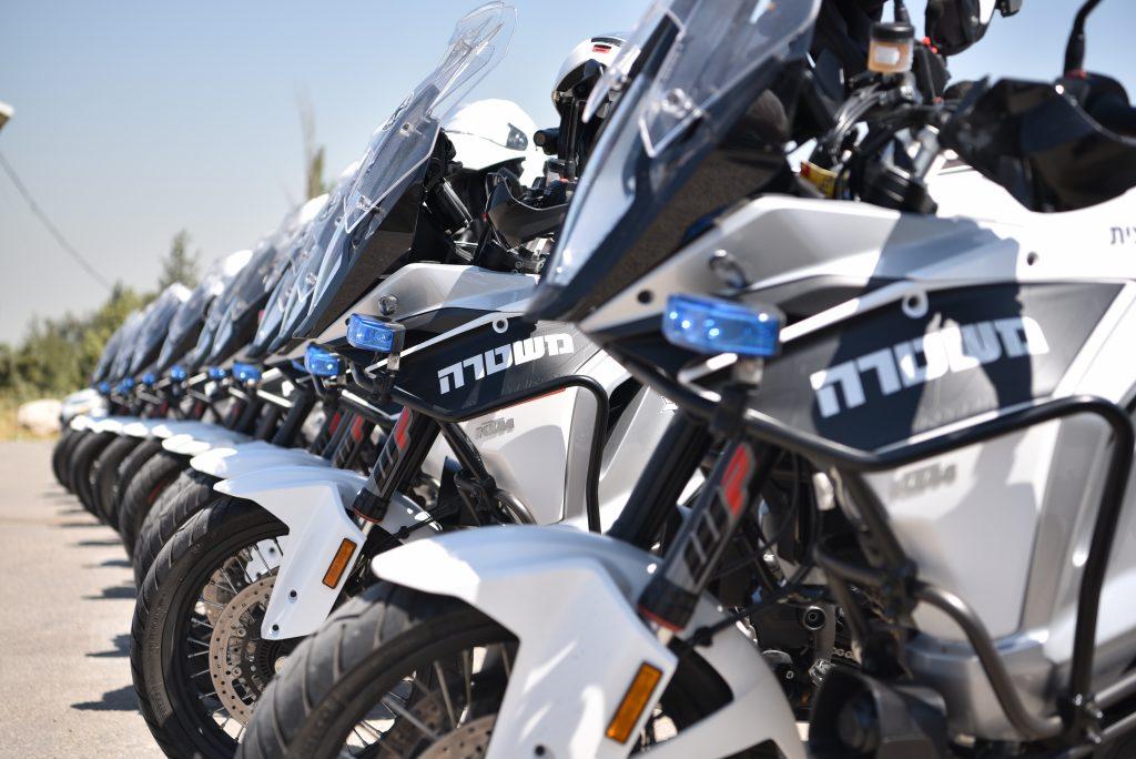 היערכות המשטרה לקראת מרוץ ג'ירו דאיטליה בירושלים (צילום: דוברות המשטרה)
