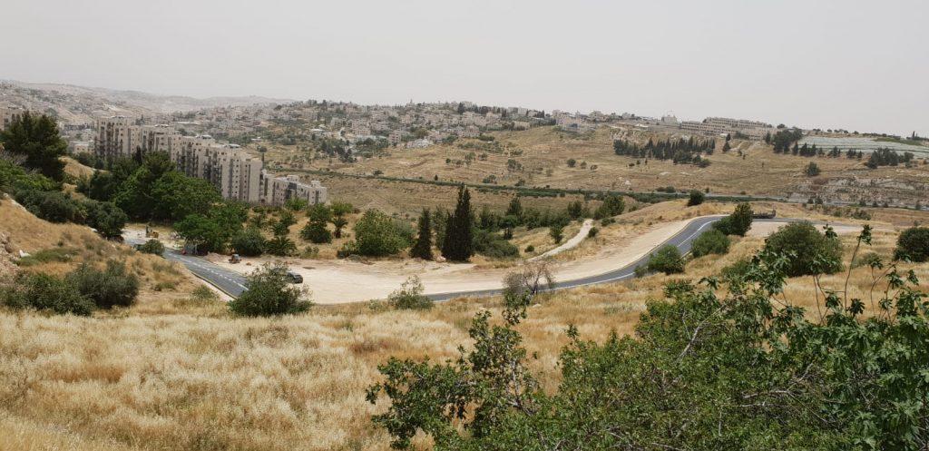 """כביש הגישה החדש לשגרירות ארה""""ב (צילום: יח""""צ)"""