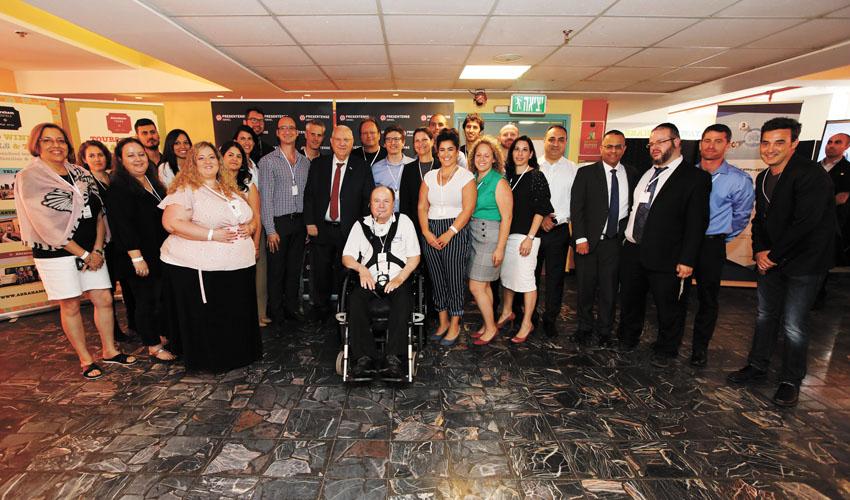 המפגש בין הנשיא ראובן ריבלין לאנשי ארגון PresenTense (צילום: אלעד זגמן)