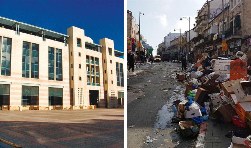 אשפה ברחוב אגריפס בשביתה בשנה שעברה, כיכר ספרא