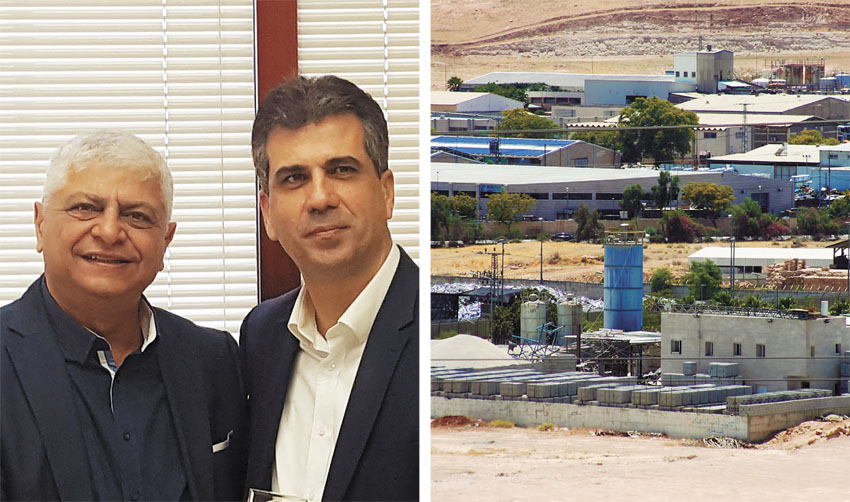פארק התעשייה במעלה אדומים, אלי כהן ובני כשריאל (צילומים: עיריית מעלה אדומים)