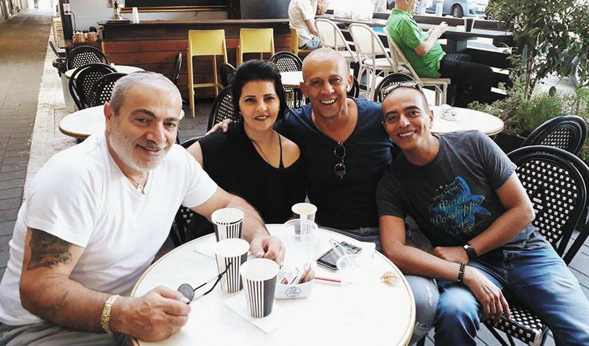 רון שלום, דידי הררי, אתי לוי וישראל בונדק (צילום: פייסבוק)