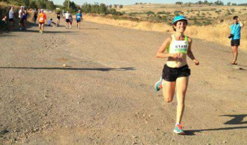 רותי זינדל-אוכמן, מרוץ הר לעמק 2014 (צילום: אלבום פרטי)