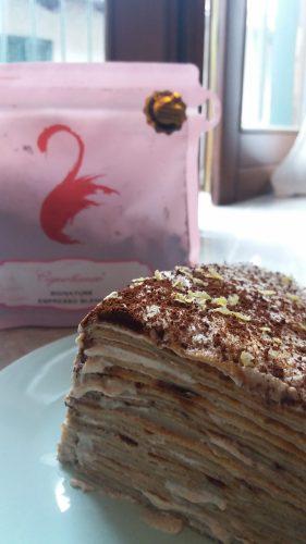 עוגת קרפים מסקרפונה וקפה (צילום: רות פון שטראוס)