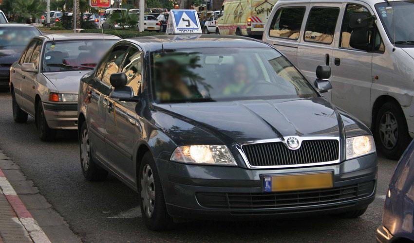 רכב לימוד נהיגה (צילום: דן קינן)