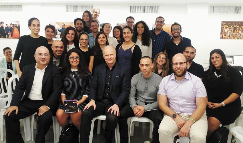 """בתמונה משתתפי תוכנית המצטיינים של מכללת הדסה (צילום: יח""""צ)"""