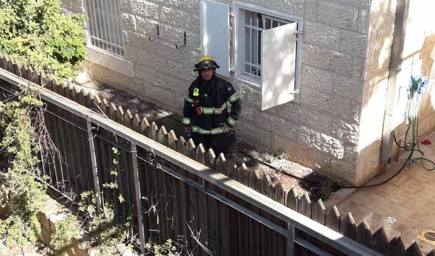 דליפת הגז ברחוב המחנכת בגילה (צילום: דוברות כבאות והצלה ירושלים)