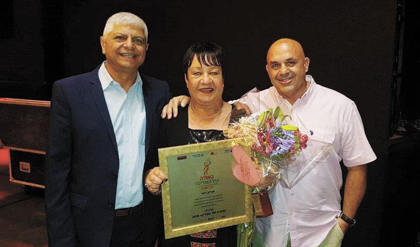 יגאל לוי, אורית דאר ובני כשריאל (צילום: עיריית מעלה אדומים)