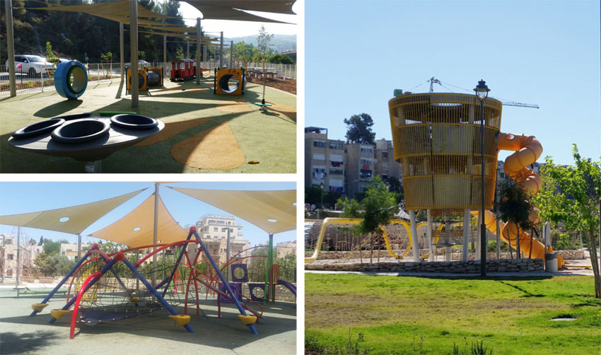 פארק החבלים בקרית מנחם, פארק גוננים גן מרכזי, פארק עמק הארזים (צילומים: מיכל פישמן רואה)
