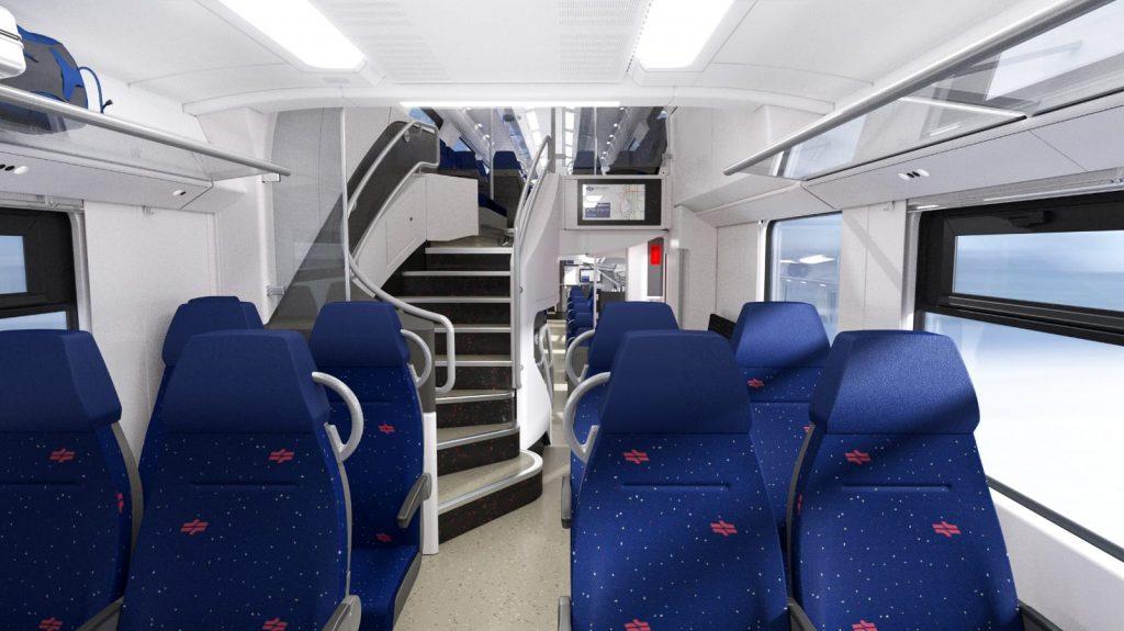 """הקרונות החדשים של הקו המהיר ירושלים-ת""""א (צילום: רכבת ישראל)"""